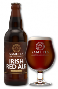 Samuels Irish Red Ale bottle and glass