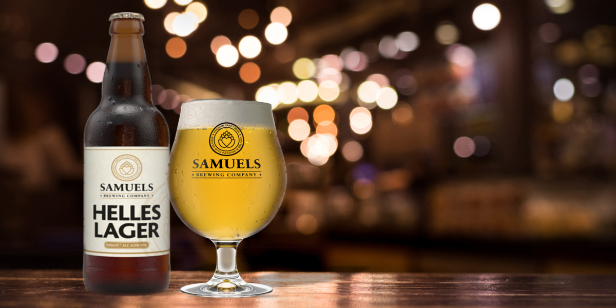 Samuels Helles Lager and Glass